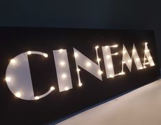 Cinema sign Cinema decor Vintage cinema Man gift Guy cave sign Marquee letters Light up sign Light up letters Man Cave Led sign Personalized gifts Theater Room Decor, Movie Theater Rooms, Home Cinema Room, Home Theater Lighting, Movie Rooms, Guys Room Decor, Movie Theater Basement, Small Movie Room, Home Theatre