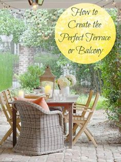 Top decorating ideas for a balcony or terrace this summer. Enjoy the sunshine in style!
