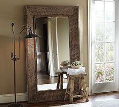 Mid-Century Dowel Mirror – Pecan | Floor mirror, Contemporary ...