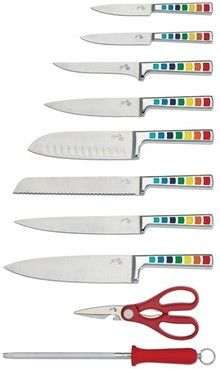 Fiesta® Masquerade 11 Piece Cutlery Set, a colorful way to get cooking. $119.95 Fiestaware knives
