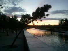 Atardecer en Madrid río