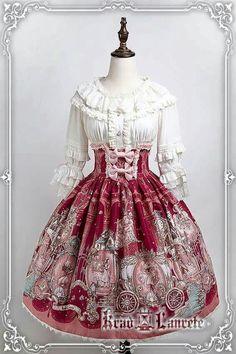 Old Fashion Dresses, Fashion Outfits, Beautiful Outfits, Cute Outfits, Estilo Lolita, Lolita Cosplay, Gothic Lolita Fashion, Fairytale Dress, Harajuku Fashion