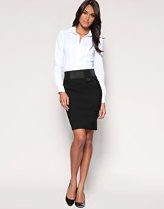 nice pencil skirt for Taniya's work- grey/black or navy blue ...