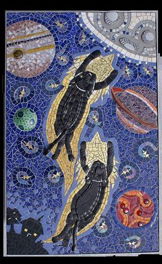 Catching a Star to Heaven by Angela Ibbs Mosaics at BreezyB5, via Flickr
