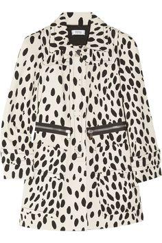 Sonia by Sonia Rykiel Dalmatian-print cotton-drill coat