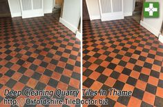 Portfolio of Tile Cleaning work completed by Barry Woodward Quarry Tiles, Red Floor, Deep Cleaning, Tile Floor, Interiors, Flooring, Classic, Black, Home Decor