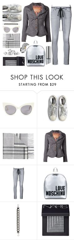 """""""Casual"""" by sunnydays4everkh ❤ liked on Polyvore featuring MaxMara, Golden Goose, Burberry, Vivienne Westwood, Off-White, Love Moschino, Fendi, NARS Cosmetics and AZZA FAHMY"""