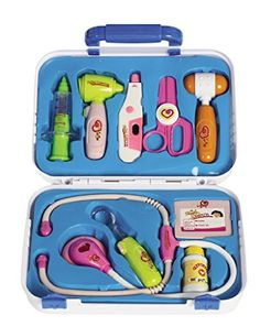 E Support Medical Box Doctor Nurse Kit Playset Pretend Electronic Medical Play Tools Toy Set for Kids *** To view further for this item, visit the image link.