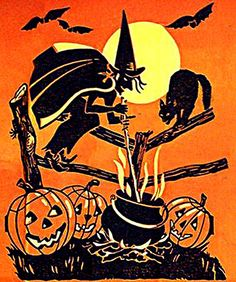 Really diggin' these Vintage Halloween Drawings! #vintage #halloween #images