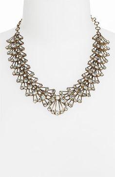 Panacea Crystal Collar Necklace Antique Gold $48.00