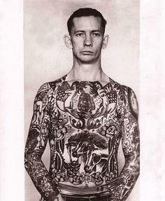 Captain Elvy tattooed by George Fosdick