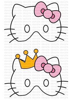 Hello kitty kitty and coloring pages on pinterest for Hello kitty mask template