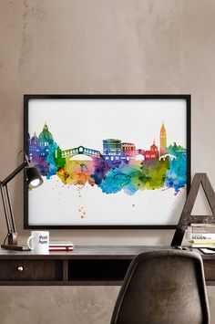 Venice Venice print Venice poster Italy watercolor by iPrintPoster