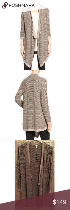 "NWT $328 Eileen Fisher Boucle Cascading Cardigan 🔹Eileen Fisher   🔹Cascading cardigan  🔹Two-tone yarns of Peruvian organic cotton create textured stripes over a long cardigan with slouchy drop-shoulder styling and a draped front. Boucle.  🔹Size XL  🔹Organic Cotton  🔹New with tags! Originally $328!  🔹Bust: 23"" across the front, lying flat. Has stretch.  🔹Length: 37"" from shoulder to hem.  ✳️Bundle to Save 20%! ❌No Trades, Holds, PP, Modeling 🎀100% Authentic!  ⭐️ Suggested User •…"