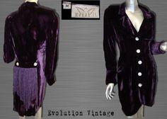 Purple Rain Velvet Jacket  via Actress Eileen by EvolutionVintage, $150.00