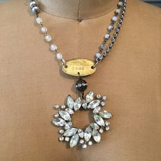 Dog-gone gorgeous: vintage assemblage necklace by RevivalBling
