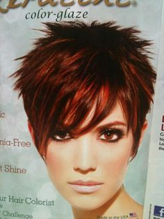 40 Funky Hairstyles To Look Beautifully Crazy - Fave HairStyles : Trendy Hairstyles for Short Hair Short Spiky Hairstyles, Edgy Haircuts, Fringe Hairstyles, Short Hairstyles For Women, Trendy Hairstyles, Wedding Hairstyles, Bouffant Hairstyles, Brunette Hairstyles, Pixie Haircuts