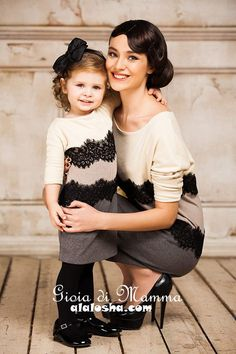ALALOSHA: VOGUE ENFANTS: Mother-Daughter Fashion by Gioia di Mamma FW2014/2015