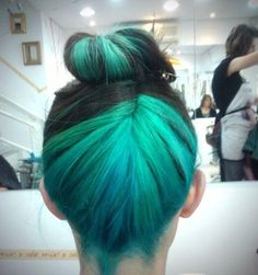 turquoise and black bun - lovelovelove