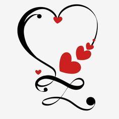 Mom Tattoos, Couple Tattoos, Tattoos For Women, Valentines Day Drawing, Valentines Art, Heart Art, Love Heart, Infinity Tattoos, Infinity Symbol
