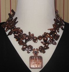 Statement Necklace   Cultured Freshwater Pearls by CopperTowneGems, $89.00