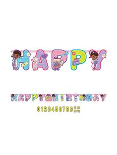 Doc McStuffins Add-An-Age Letter Banner | Wholesale Individual Accessories and Decorations