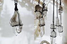 Quartz Crystal Necklaces :)