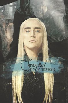 Thranduil, King of Mirkwood. Doesn't he look a little like Lucius Malfoy? Maybe it is just the long, straight, white hair. Or the haughty look.