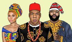 www.cewax.fr aime cet art africain - megan good drake chris brown rihanna p diddy african fashion