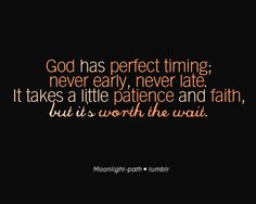timing. I need to remember this.