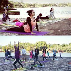 Fazer yoga ao ar livre