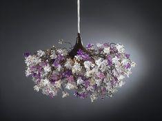 Hanging lamp Midnight flowers