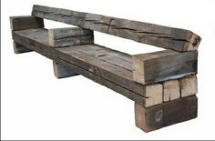 Bench out of reclaimed wood Piet Hein Eek Diy Outdoor Furniture, Rustic Furniture, Garden Furniture, Diy Furniture, Furniture Design, Metal Shed, Outdoor Seating, Barn Wood, Home Projects