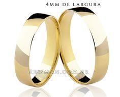 Alianças Tradicional 8053 ♥ Casamento e Noivado em Ouro 18K - Reisman - Reisman…