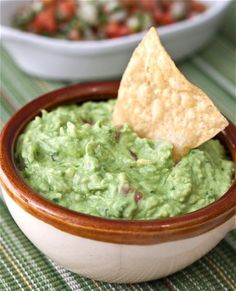 Guacamole-----, I like to add a little bit of sour cream. It gives it a nice tangyness, and lightens it up a bit