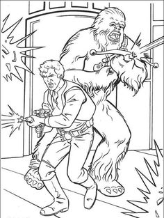 Chewbacca and his friends Coloring Page