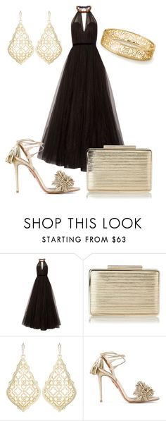 """🖤"" by queen-naznaz ❤ liked on Polyvore featuring Jenny Packham, L.K.Bennett, Kendra Scott and Aquazzura"