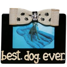 Man and girl's best friend! So put them on display and tell everyone you have the best dog ever!