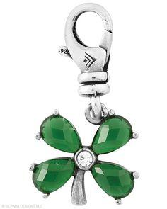 #Happy-Go-Lucky #Charm #Glass, #Cubic Zirconia, #Sterling Silver. #Silpada #Jewelry