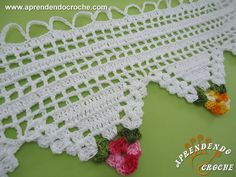 Bandô de Crochê Triângulos Florais - Receita de Croche