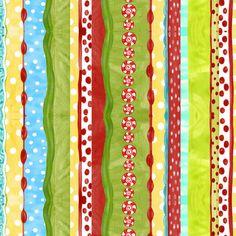 Jolly Holiday Fabric by Jennifer Heynen .Half Yard. by Jangles, $4.75
