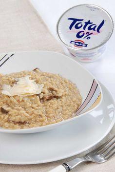 Risotto con funghi porcini e Yogurt Greco Fage 0%