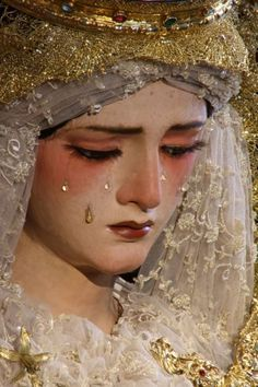 La Madre Dolorosa or Our Lady of Sorrows is a Marian devotion practiced in Latin America. There are procession in her honor during her feast day in September 15, and during Lent. She is the patroness of those in sadness.