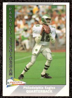1991 Pacific #385 Randall Cunningham Philadelphia Eagles NFL Football Card #PhiladelphiaEagles