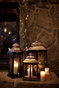 Scottish Wedding | Lanterns with Candles                                                                                                                                                      More