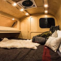 Tough teardrop caravan offers cozy off-road comfort The interior is built using Baltic Birch, multi-layer plywood and water resistant clear coat Teardrop Trailer Interior, Teardrop Caravan, Teardrop Camping, Teardrop Camper Trailer, Tiny Camper, Camper Van, Pod Camper, Micro Campers, Camper Caravan
