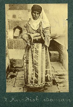 A Kurdish woman - time period WW1