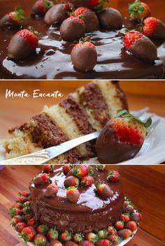 Bolo Mousse de Chocolate Morango e Ganache, com certeza é o melhor dos melhores bolo de aniversário que eu já fiz na vida! Meu preferido, meu queridinho, o melhor de …