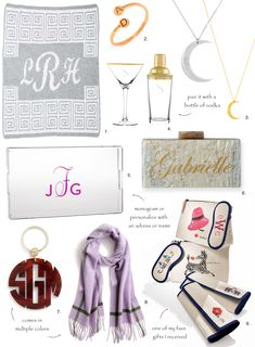 'Tis the season! Los Angeles fashion blogger Sydne Summer showcases her favorite Monogrammed Gifts in her first 2017 holiday shopping guide. #shopping #gifts