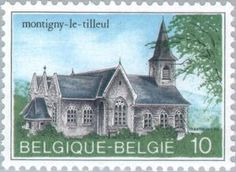 Stamp: Montigny-le-Tilleul (Belgium) (Logne Castle, Ferrieres) Mi:BE 2191,Sn:BE 1175,Yt:BE 2139,Sg:BE 2794,Bel:BE 2140